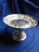 Small Cake Serving Dish Silver Plated 1860 English Chased And Engraved Beautiful