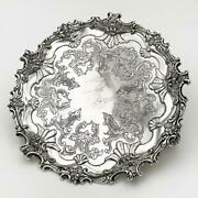 Vintage American Silver Plate Old Sheffield Reproduction Card Tray Corbell And Co