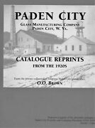 Paden City Pressed Glass - 1920s Catalog Reprints - Types Forms Patterns / Book