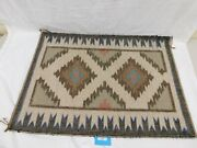 122/222 Authentic Navajo Rug Woven By Evelyn Yazzle Of Four Corners Jan. 13,