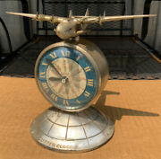 Antique Clock A.c. Rehberger Clipper Clock Sessions Pan American Airplane 1935