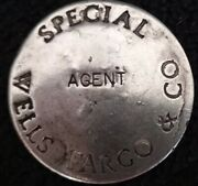 Authentic Wells Fargo And Co. Special Agent Badge Pin With Maker Mark On Back 1.5