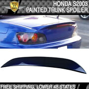 Usa Stock 05 S2000 2dr Ap2 Abs Trunk Spoiler Painted Navy Blue Pearl B523p