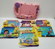 Leapfrog My First Leap Pad System Lot Pink And Purple With 7 Books And 6 Cartridges