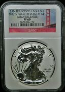 2012 S American Silver Eagle Dollar Pf69 Early Releases Reverse Proof⭐172⭐v71⭐