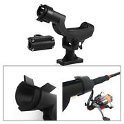 Fishing Rod Holder For Boat Ship Adjustable 360 Degree Pole Rack Support With 2