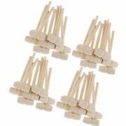 40pcs Mini Natural Wood Mallets Wooden Hammers For Carving Stamping Crafts