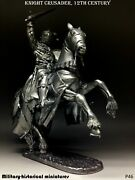 Tin Toy Soldiers Unpainted Knight Crusader 54 Mm 1/32 Figurine Metal Sculpture