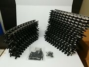 Bachmann G Scale Train Tracks 18 Straight And 12 Curved + Connecting Pieces.
