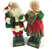 Vintage 1990's Holiday Creations Mr. And Mrs. Santa Claus Singing 16 Christmas
