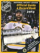Nhl Official Guide And Record Book 2012 National Hockey By National Hockey League