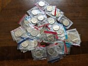 Lot Of 39 Bu Jefferson Nickels P And D Coins Us Mint Sets Cello Mixed Years