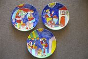 3 Plates The Cellar Handpainted Pottery 10 Made In Italy For Macy's Fruits