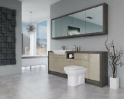 Bathroom Fitted Furniture 2100mm Cappucciono Gloss / Mali Wenge D1 With Wall Uni