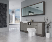 Bathroom Fitted Furniture 2100mm Latte Gloss / Mali Wenge D1 With Wall Unit - Ba