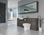 Bathroom Fitted Furniture 2100mm Mali Wenge D1 With Wall Unit - Bathcabz
