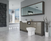 Bathroom Fitted Furniture 2100mm Metallic Latte Gloss / Mali Wenge D1 With Wall