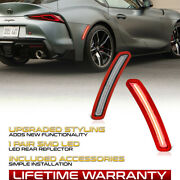 Rear Clear Lens Red Led Side Marker Lamp Pair For 2020-2021 Toyota Gr Supra