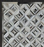 Trellis Style Cowhide Carpet Home Decor Hand Made Leather Hair Area Rug Carpets