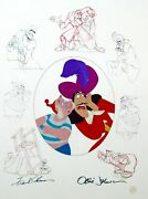 Disney Cel Peter Pan Captain Hook And Smee Signed Frank Thomas Ollie Johnson Cell