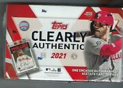 2021 Topps Clearly Authentic Hobby Box Factory Sealed