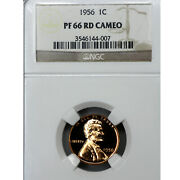 1956 Pf66 Cameo Red Lincoln Wheat Cent 1c Proof Ngc Graded Pr66 Cam Rd