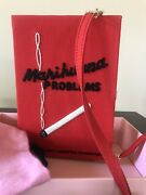 Olympia Le-tanmarihuana Problems Book Clutch Bag Authentic Retail 1085