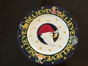 Vintage Mary Engelbreit Celebrate The 15th Anniversary Believe Christmas Plate