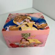 Rare 1991 Disney Beauty And The Beast----dancing Belle Musical Pink Jewelry Box