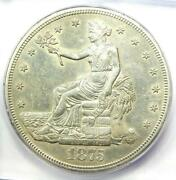 1875-s Trade Silver Dollar T1 - Certified Icg Au55 Details - Rare Coin