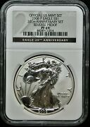 2006-p United States Silver Eagle Reverse Proof 20th Anniversary Ngc Pf69⭐014⭐v4
