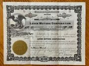 And039lever Motors Corporationand039 Stock Certificates Dated 1945 1948 And 1953