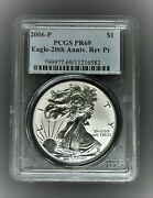 2006-p United States Silver Eagle Reverse Proof 20th Anniversary Ngc Pf69⭐582⭐v4