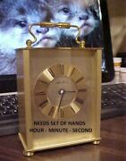 Vintage Clock W-germany Seth Thomas Brass Case Offered As Is See Details