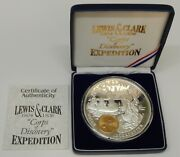 Lewis And Clark Corps Of Discovery Expedition Silver Medallion 1 Troy Pound 12 Oz