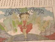 Vtg King Features Syndicate Betty Boop Tapestry Wall Hanging Rug 1992