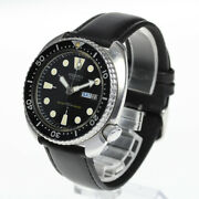 Seiko Watch 3rd Diver 150m Day-date Antique 6306-7001 Automatic Men's Dial Black