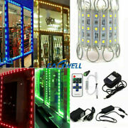 Us 5050 Smd 3 Led Module Light Store Front Window Sign Lamp + Remote + Power Kit
