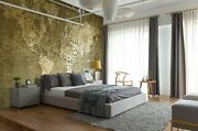 3d Golden Warp A629 World Map Wallpaper Wall Mural Removable Self-adhesive Amy