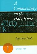 Commentary On Holy Bible, Volume 1 Genesis-job By Matthew Poole Excellent
