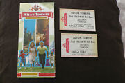 Alton Towers Theme Park 1991 Map Guide + Tickets