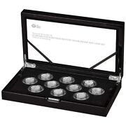 2021 Uk The Queens Beasts Completer 1/4oz Quarter Ounce Silver Proof 10 Coin Set