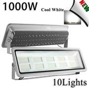 10x1000w Led Flood Light High Power Cool White Superbright Outdoor Security Lamp