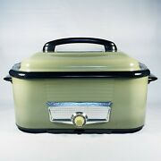 Rare 1955 Vintage Westinghouse Roaster Oven Avocado Green W Matching Lid And Parts