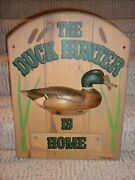 Rare Ducks Unlimited Sign By Tom Taber Decoy 1986 - 1987 Hunter Home / Gone