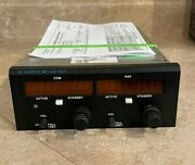 Narco Mk 12d Nav/com P/n 03118-300 14v Without G/s W/ Fresh Faa 8130 And Warranty