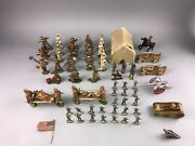 75pcs Vintage Lead Toy U.s. Soldier And Accessories Including Barclay - Lot 3450