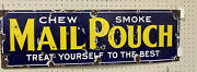 """Mail Pouch Chew Smoke Porcelain Advertising Sign 36"""" - Jb65"""