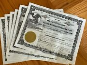 And039lever Motors Corporationand039 Stock Certificates Dated 1945 And 1953 6000 Shares