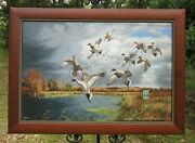 David Maass Fruits Of Your Labor-mallards And Pintails Ducks 49/250 Giclee Canvas